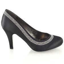 302f3fd62817 item 3 Womens Wedding Shoes Classic Heel Ladies Diamante Party Prom Slip On Pumps  Size -Womens Wedding Shoes Classic Heel Ladies Diamante Party Prom Slip On  ...