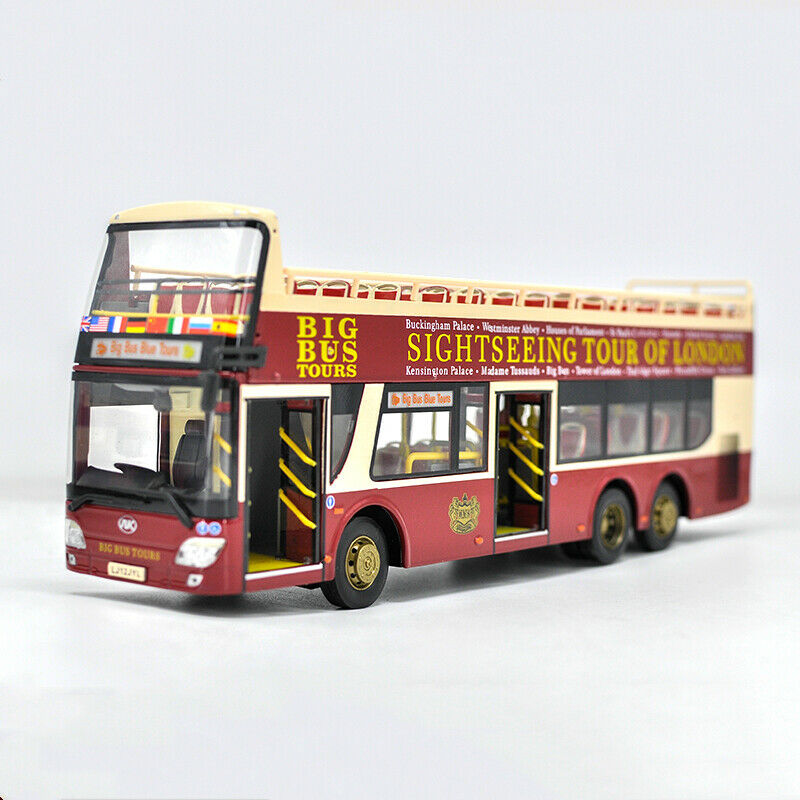 Entrega directa y rápida de fábrica 1 43 SIGHTSEEING TOUR OF LONDON BIG BUS TOURS TOURS TOURS Bus Diecast Model Collectible Juguete  ventas calientes