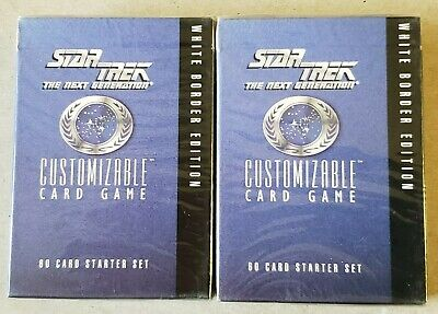 Decipher Star Trek Next Generation White Border Edition Starter Deck CCG TCG