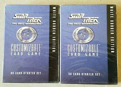 Factory sealed Star Trek TNG CCG White Border Starter Deck