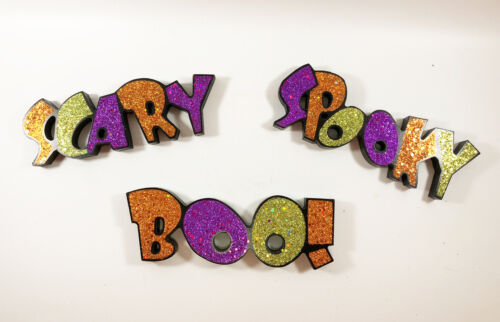 Gerson Halloween Decor - Table Top Word Sign Scary Boo Spooky 3pc.