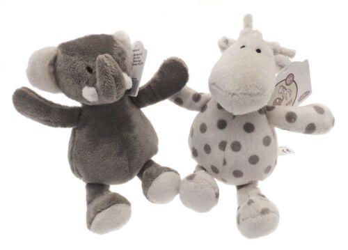 Elli /& Raff Pair of Soft Plush Grey and Cream 18cm Toys