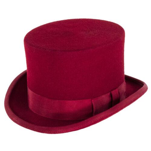 Red Denton Hats Fashion Top Hat