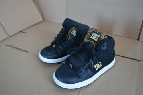 New//Display DC Shoes Youth Rebound Black Wheat Hightops 302676B