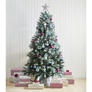 Christmas-Tree-1-82m-Spruce-Winter-Pine-cone-Decorations-Green-Snowy-White-AUS