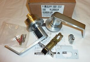 Falcon Y581BD DAN 626 Dane Storeroom Deadlocking Door Lock w/ Core SATIN CHROME