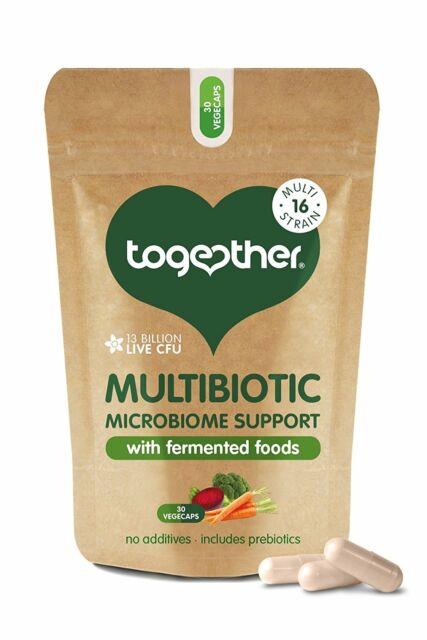 Together Multibiotic Microbiome Support 30 Vegecaps *With Fermented Food*