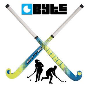 BYTE MK1 Field Hockey Stick Twin Tube 20% Carbon Graphite Fibre Glass Composite