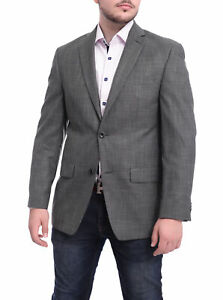 Mens-44R-Mens-Michael-Kors-Classic-Fit-Solid-Gray-Two-Button-Blazer-Sportcoat