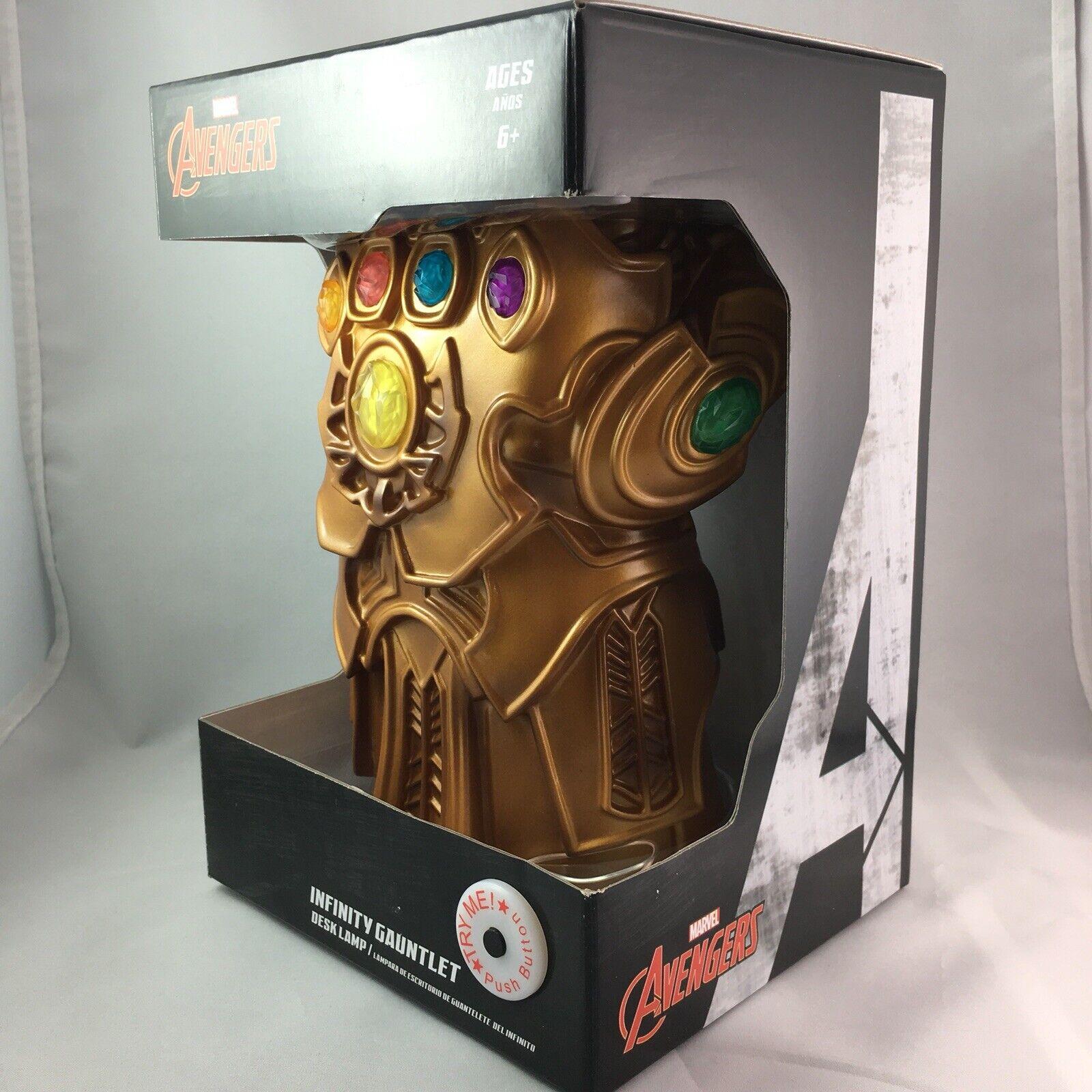 Marvel Avengers Infinity Gauntlet LED Desk Lamp Light Up Infinity Gem Stones
