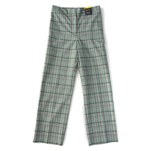 M-amp-S-Size-16-High-Rise-Check-Straight-Trousers-7-8ths-Green-Grey-Womens-NEW-35