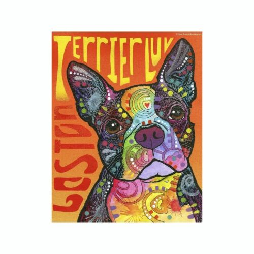 Boston Terrier Love Dean Russo Vinyl Dog Car Decal Sticker