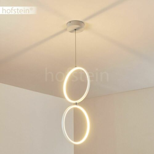 LED dimmbare Hänge Lampe Pendel Leuchte Wohn Schlaf Ess Zimmer Beleuchtung Weiß