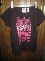 Cruel Girl Youth Black Rodeo Stampede Shawnee Ok Short Sleeve Shirt Size Xs 4/5