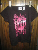 Cruel Girl Youth Black Rodeo Stampede Shawnee Ok Short Sleeve Shirt Size Xs 4/5