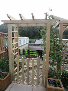 Image Is Loading Robust Wooden Timber Garden Arch Entrance Structure With