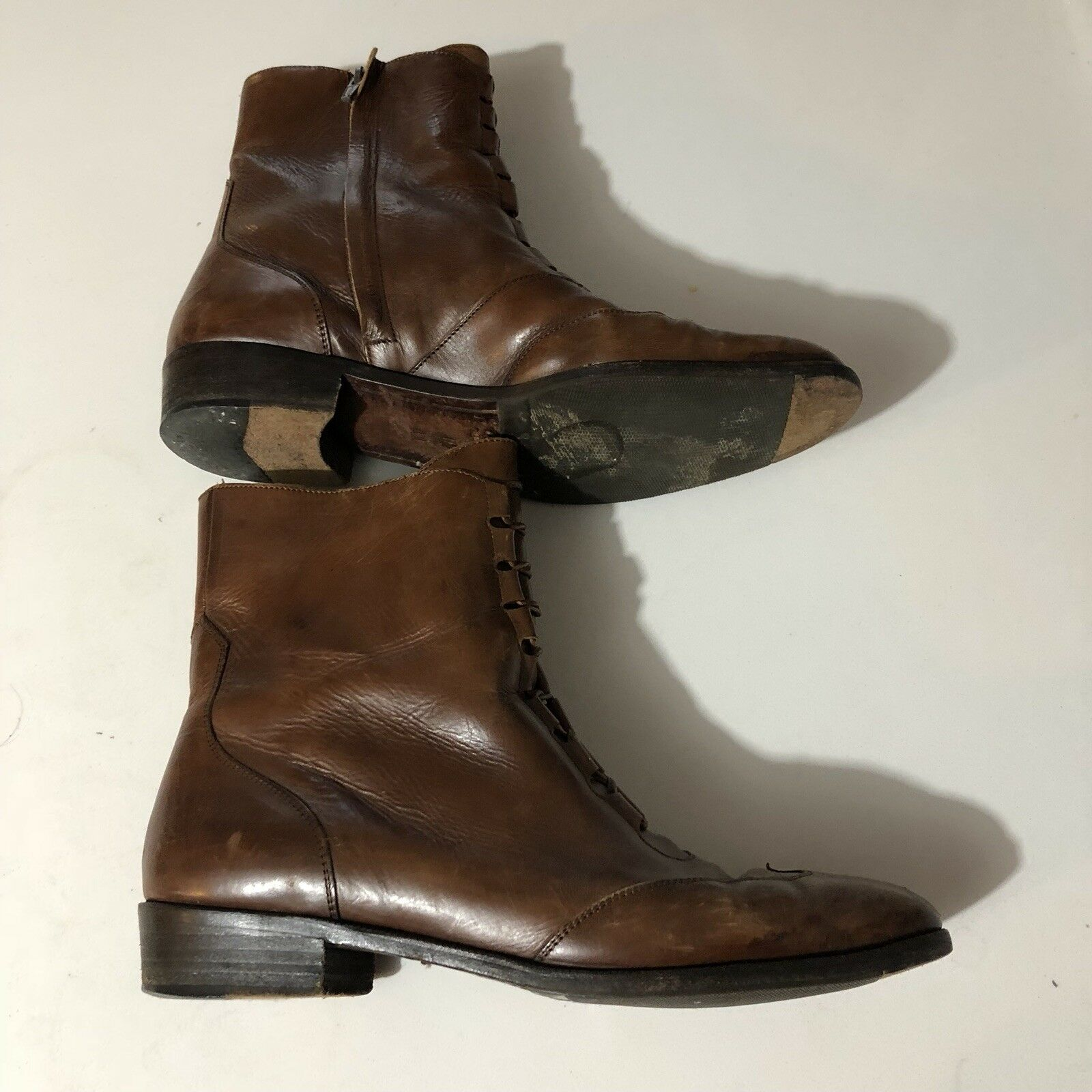 Rare Vintage 70s Or 80s Leather Leather Leather Boots Brown Womens Cole Haan Size 9.5 038bce
