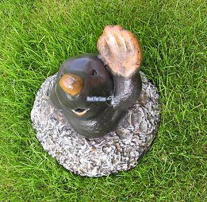 Lustiger Maulwurf Witzig Lustig Figur Hügel Statue Skulptur Garten
