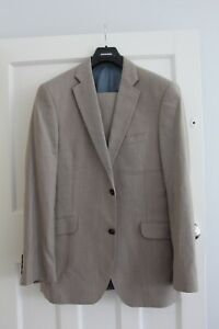 Austin Reed Men S Suit 42r Chest 32 Waist Light Stone Colour Ebay
