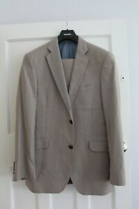 Austin Reed Men S Suit 42r Chest 32 Waist Light Stone Colour Ebay