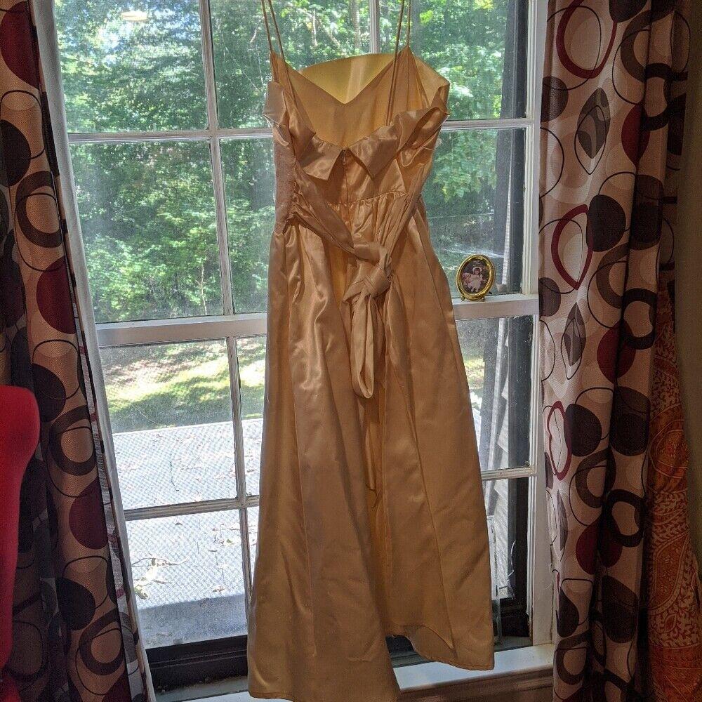 Gunne Sax Dress Ivory Satin Formal Dress S Lace - image 4