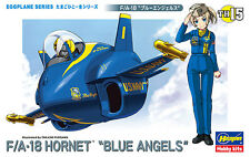 Hasegawa TH15 Egg Plane Series Aircraft Model Kit USN F/A-18 Hornet Blue Angels