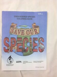 Image Is Loading Save Our Species Coloring Book EPA Protect Environment