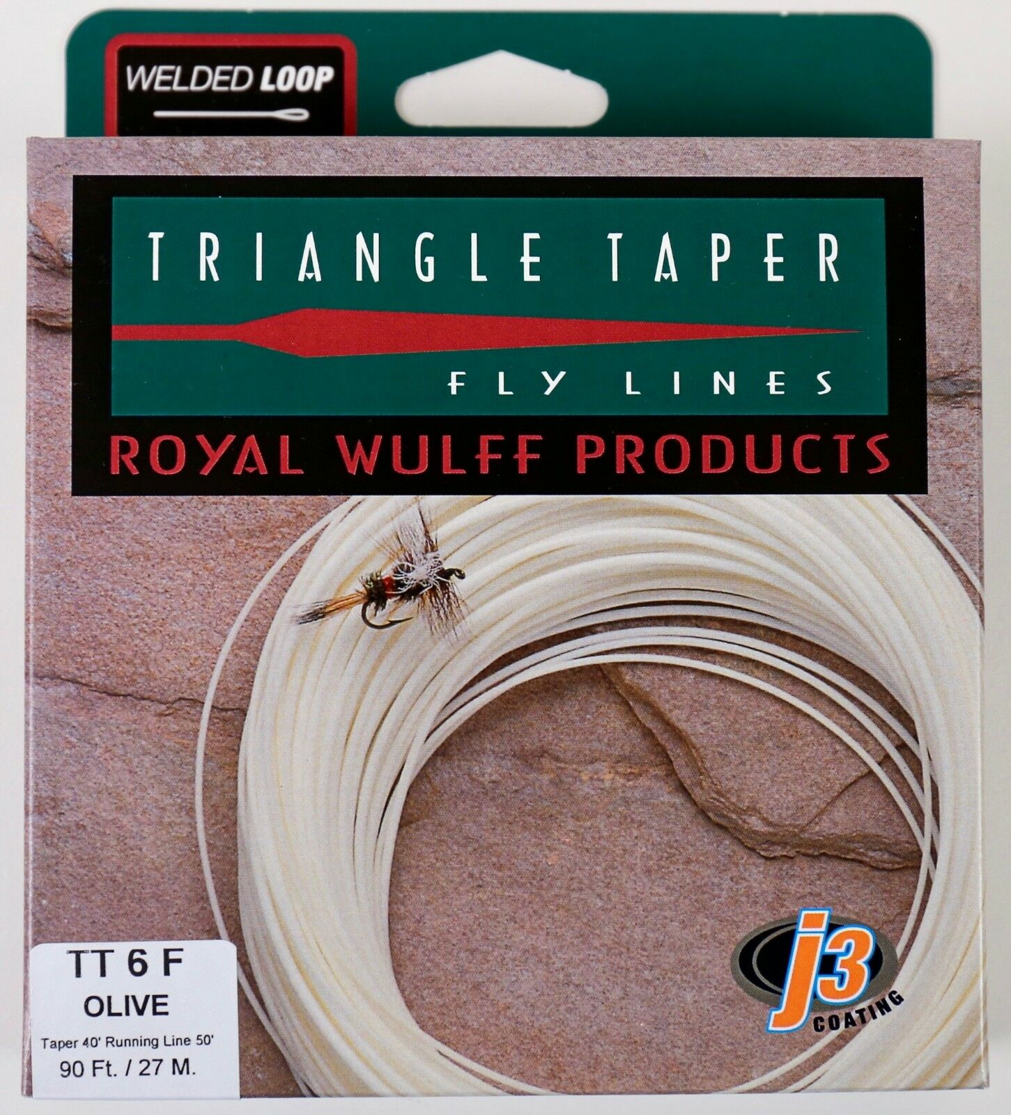 Royal Wulff Triangle Taper 6 WT Floating Fly Line Olive Free Fast Shipping TT6FG