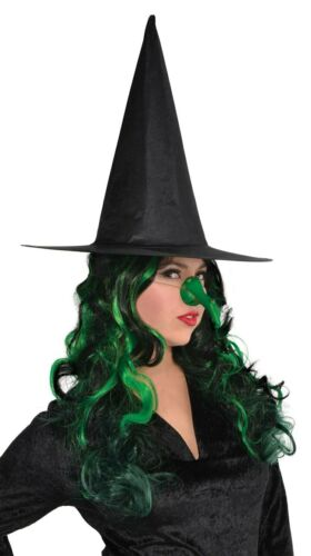 NEW Halloween   Halloween Green Witch Adults Nose