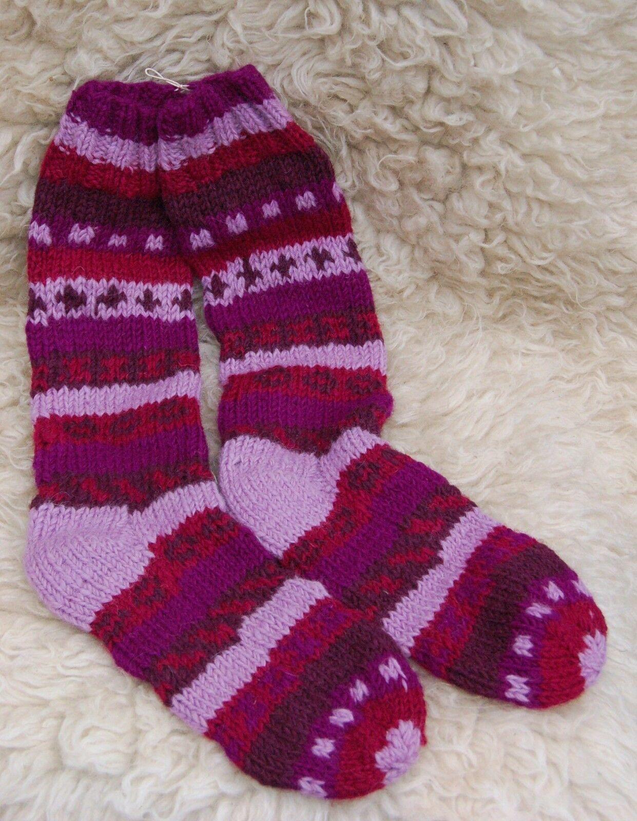 Wollsocken Wollstrümpfe Handgestrickt Nepal Strümpfe Schafwolle Warme Socken