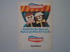 advertising Pubblicità 1976 GELATO TOSERONI ZIO TOM