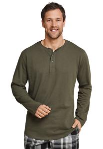 Schiesser Herren Schlafanzugoberteil Mix /& Relax T-Shirt Knopfleiste
