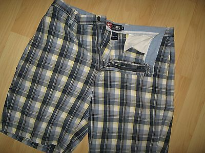 Chaps Plaid Shorts 36 - Ralph Lauren Blue Plaid Mens Bermuda Short Pants Size 36
