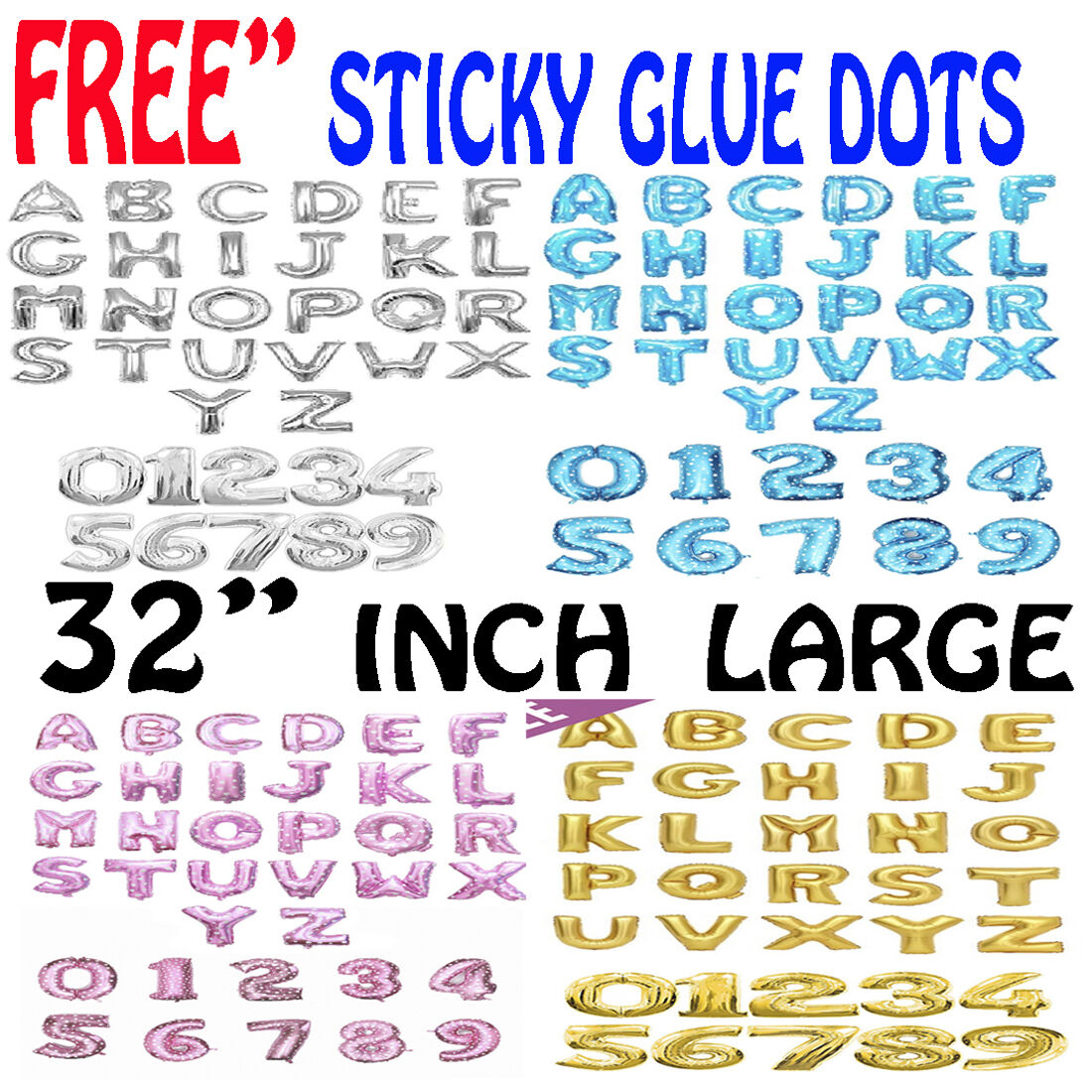 """32/"""" LETTER Foil Number Balloons Air Baloons Large Happy Birthday Party Balloons"""