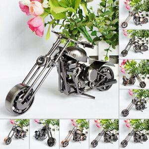 Vintage-Motorcycle-Model-Retro-Motor-Iron-Motorbike-Figurine-Handmade-Prop