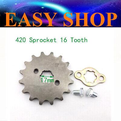 Front Sprocket 16T 420 Chain 17MM Baja DR50 DR70 DR90 SDG SSR 70 90 110 125 Dirt Bike
