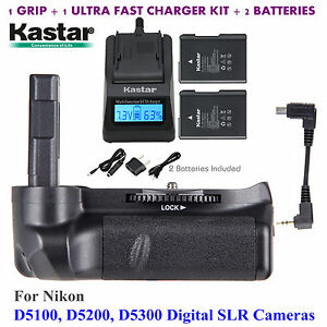 Battery-Grip-EN-EL14-Battery-Charger-for-Nikon-D5100-D5200-D5300-Digital-SLR