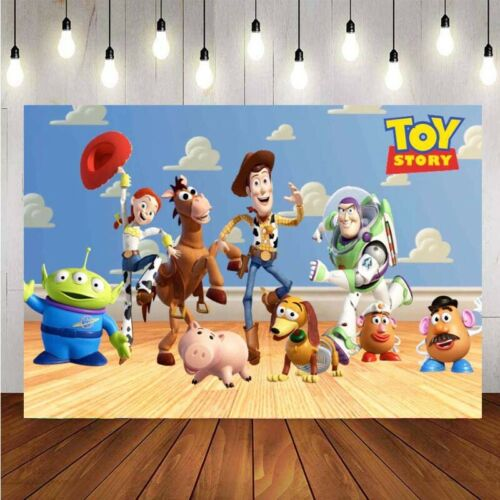 Toy Story Movie Kids Birthday Party Photography Backdrop Vinyl Photo Background