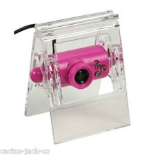 NEW PINK CLIP-ON USB WEBCAM WITH STAND & CLIP, 30FPS