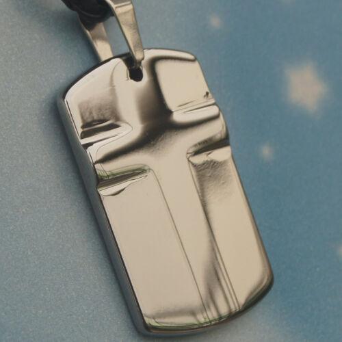 classic cross hi-tech scratch proof  tungsten pendant necklace 35.5g