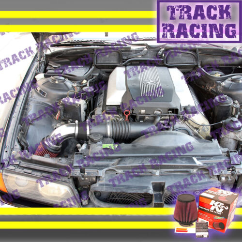 93 94 95 97 98-01 BMW 740i 740iL i iL M60 M62 E38 AIR INTAKE KIT+K/&N Black Red