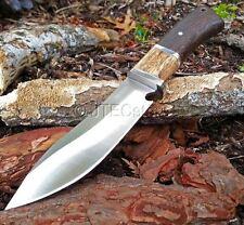 "10"" JTEC Hunting DARK WOOD Survivor Bowie Knife w/ SHEATH Fixed Blade NEW JWD29"