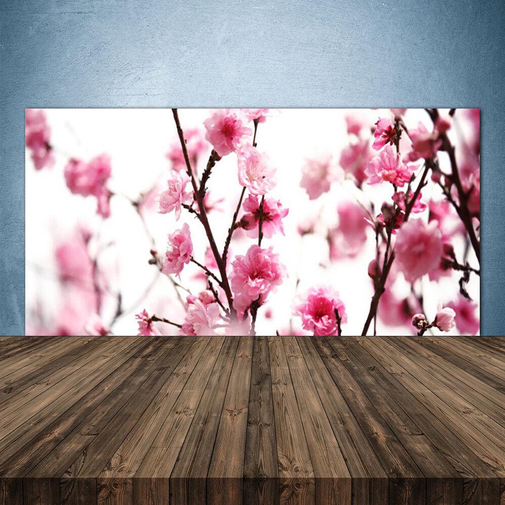 Crédence de cuisine en verre Panneau 140x70 Floral Branches Fleurs
