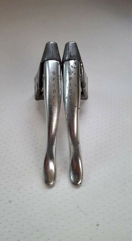 ONE PAIR of SPIDEL MAFAC MODOLO BRAKE LEVERS SET MADE IN FRANCE