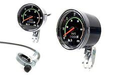 Tachometer 80 mm analog 28 Zoll Fahrrad im Retro Look km/h rpm Tacho Computer