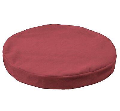 mb51r Cream White Flat Velvet Style 3D Round Shape Seat Cushion Cover Customsize