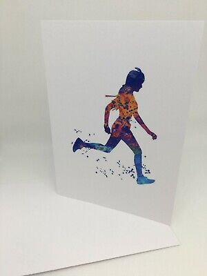 rock climbing abseiling blank watercolour greeting card Card birthday 5x7