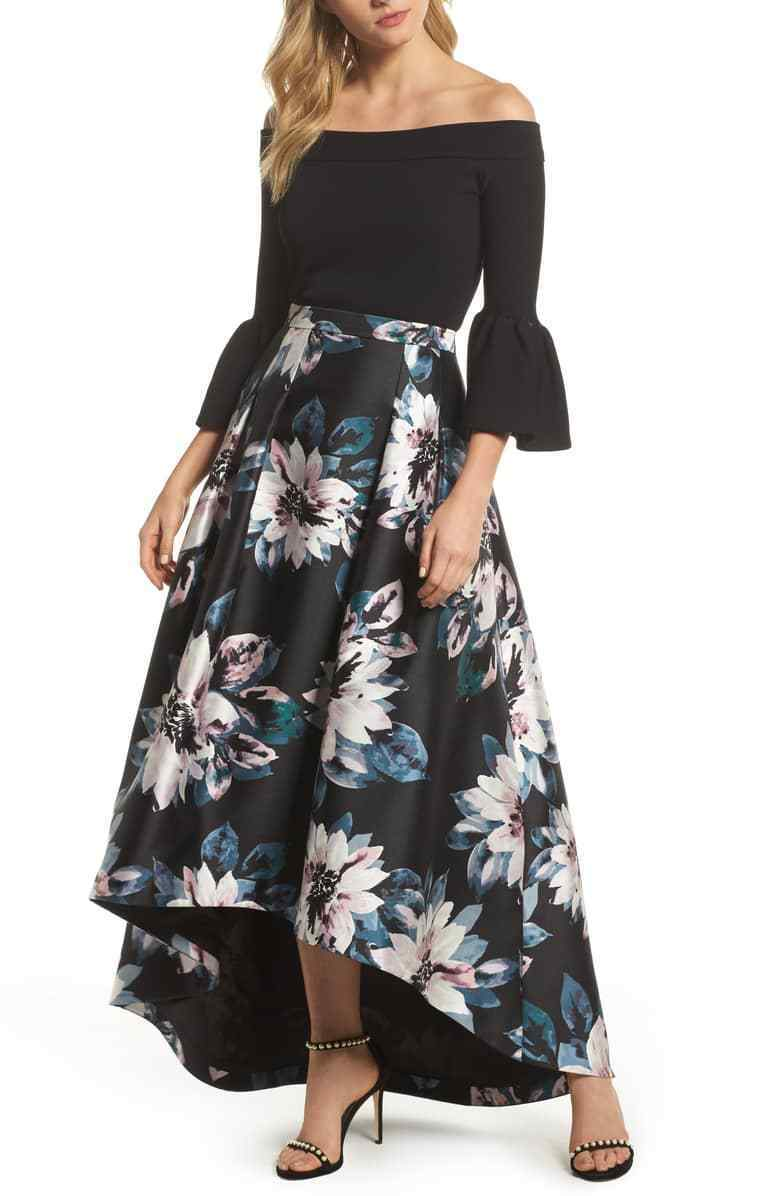 ELIZA Floral High Low Skirt (size  12)