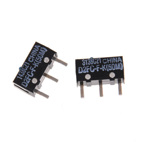 Blue Dot Mouse Micro Switch G*HWC 2Pcs Original D2FC-F-K 50m