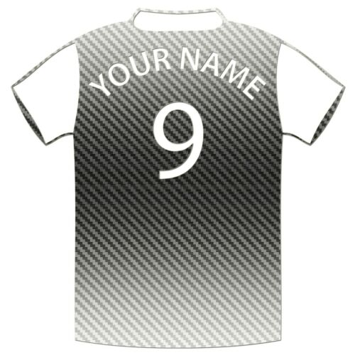 Personalised Football Shirt Vinyl Stickers Car Wall Premium Outdoor Grade